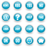 Glossy circle web icons set Stock Images