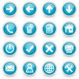Glossy circle web icons set. On white background Royalty Free Stock Photography