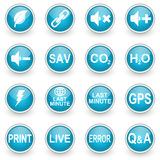 Glossy circle web icons set Royalty Free Stock Image