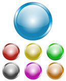 Glossy circular buttons royalty free illustration