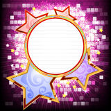 Glossy circular shape banner Royalty Free Stock Photo