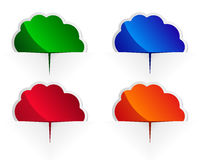 Glossy cloud labels Stock Image