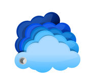 Glossy clouds Stock Images
