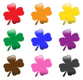 Glossy Clovers Stock Photography