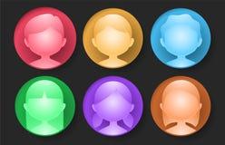 Glossy color avatar Stock Photo