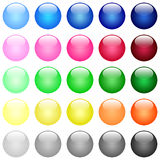 Glossy color buttons Stock Images