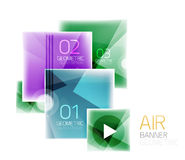Glossy color squares. Information box Stock Photos