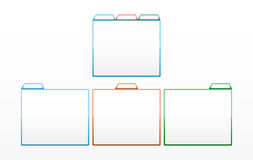 Glossy color template. Set of blue, red and green glossy templates Royalty Free Stock Photos