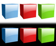 Glossy colored boxes Royalty Free Stock Image