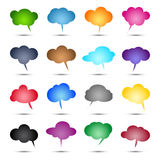 Glossy colored bubbles. Collection vector illustration Royalty Free Stock Photos