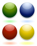 Glossy colored icons Royalty Free Stock Photo