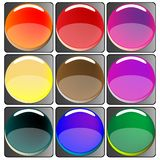Glossy colored web buttons collection Royalty Free Stock Image
