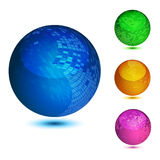 Glossy colorful abstract globes Royalty Free Stock Photography