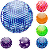 Glossy colorful abstract globes Stock Images
