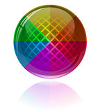 Glossy colorful abstract sphere Stock Photos