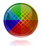 Glossy colorful abstract sphere Stock Photography