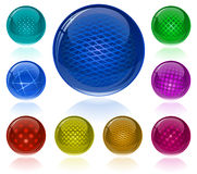 Glossy colorful abstract spheres Stock Photography