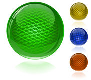 Glossy colorful abstract spheres Royalty Free Stock Image