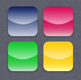 Glossy colorful app icon templates Stock Photo
