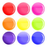Glossy colorful button Royalty Free Stock Photos