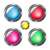 Glossy colorful buttons Stock Photography