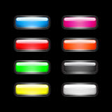 Glossy colorful buttons Stock Images