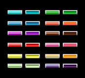 Glossy colorful buttons Royalty Free Stock Images