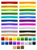 Glossy colorful buttons Royalty Free Stock Image