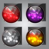 Glossy Colorful Buttons Stock Image