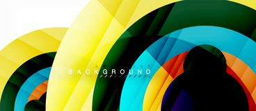 Glossy colorful circles abstract background, modern geometric design. Vector vector illustration
