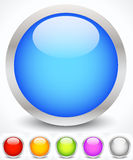 Glossy Colorful Circles with Metallic Frame Royalty Free Stock Photography