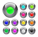 Glossy colorful metal button Stock Photo