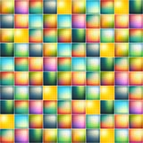 Glossy colorful mosaic square cells grid Stock Photography