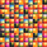 Glossy colorful mosaic square cells grid Stock Photos