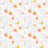 Glossy colorful mosaic square cells grid Royalty Free Stock Images