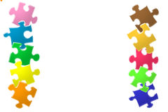 Glossy colorful puzzle Stock Images
