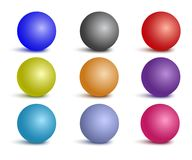 Glossy colorful set of spheres Stock Photography