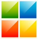Glossy colorful squares with blank space vector illustration