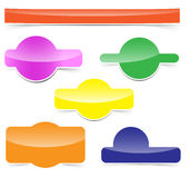 Glossy colorful web elements with shadows Royalty Free Stock Photography