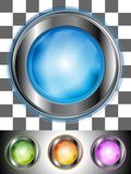 Glossy colourful buttons Royalty Free Stock Images
