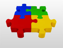Glossy colourfull  jigsaw Stock Image