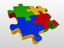 Glossy colourfull  jigsaw Stock Photo