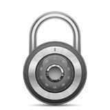 Glossy combination lock Royalty Free Stock Photos