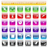 Glossy Communication Button Royalty Free Stock Photography