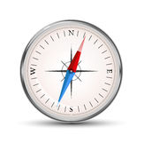 Glossy compass vector icon on white Royalty Free Stock Photos