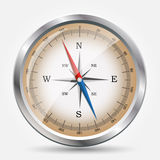 Glossy Compass. Vector Illustration. Stock Images