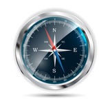Glossy Compass. Vector Illustration. Royalty Free Stock Images