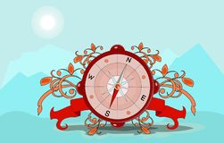 Glossy Compass with windrose. Vector Illustration. EPS8 stock illustration