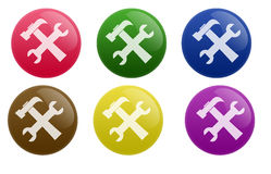 Glossy Configuration Button Royalty Free Stock Photography