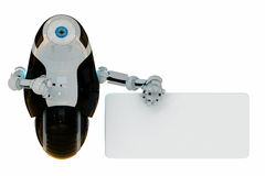 Glossy cool robotic toy represent your ad Stock Images